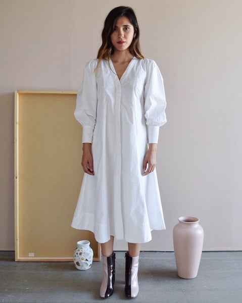 Ajaie Alaie White Calla Tunic Dress