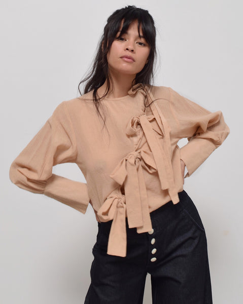 Ajaie Alaie Plaza Blouse in Warm Sands