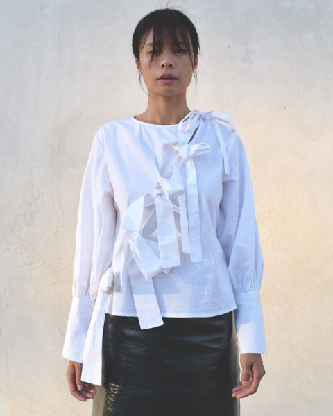 Ajaie Alaie Plaza Blouse in Cloud