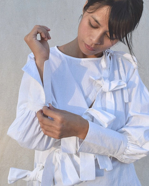 Plaza Blouse in Cloud