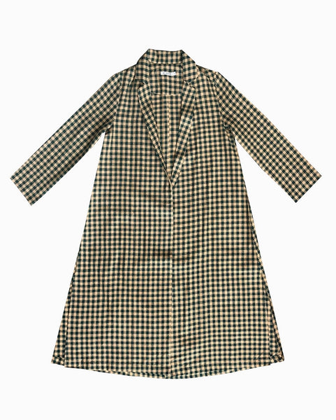 Ali Golden FUGGIAMO Notch Jacket in Gingham