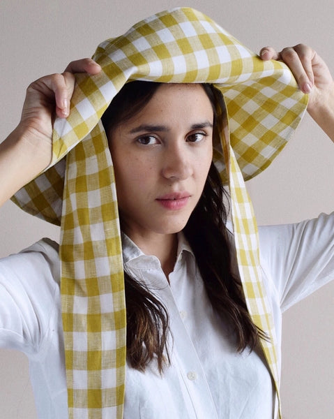 Bien FUGGIAMO Fifi Sunhat in Olive Gingham