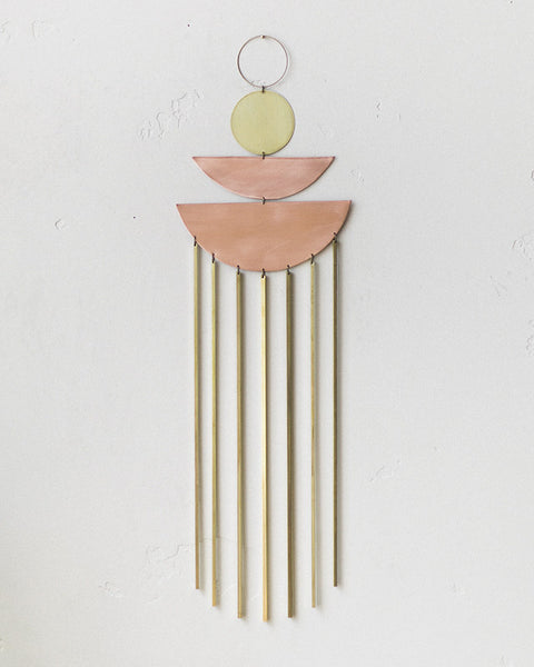 Electric Sun Creatives Brass Copper Cascada Wall Hanging