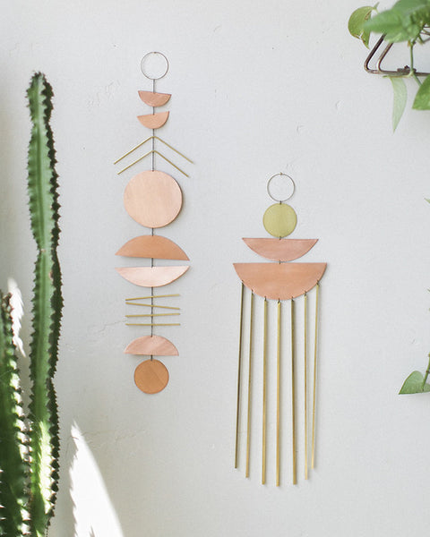 Electric Sun Creatives Brass Copper Sienna Wall Hanging