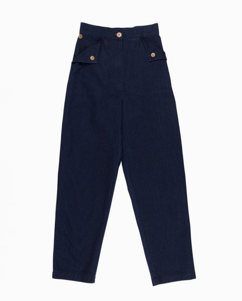 Ilana Kohn Huxie Pant in Dark Denim