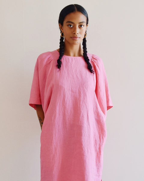 Iona Dress in Bubble Pink