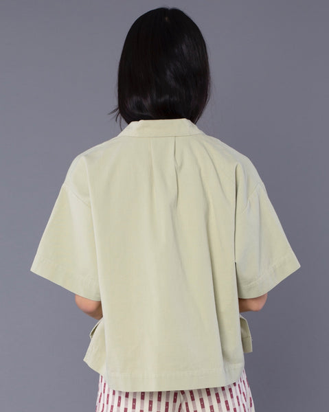 Ilana Kohn Mini Mapes Shirt in Reed Green