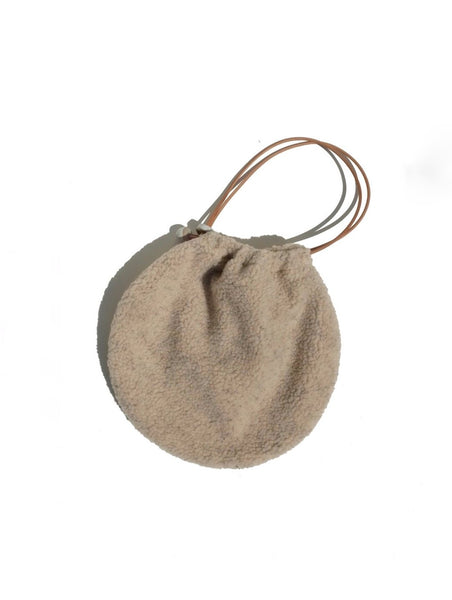Jujumade Sherpa Fleece Circle Tote