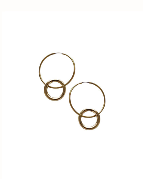 Laura Lombardi Brass Anella Earrings