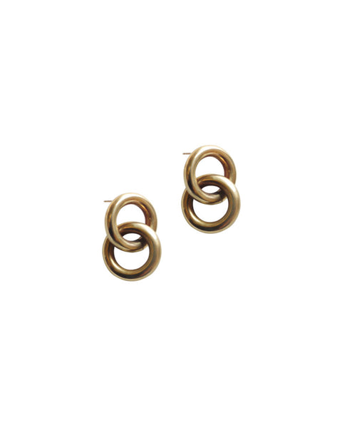 Laura Lombardi Brass Link Earrings