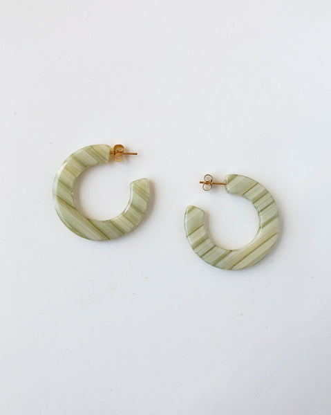 Machete Kate Earrings FUGGIAMO in Vert Stripe