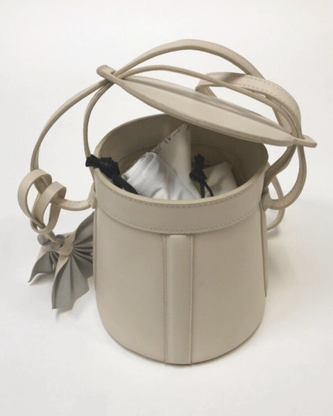 Modern Weaving FUGGIAMO Petite A-Line Bucket Bag in Cream
