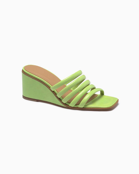 Paloma Wool Magdalene Wedge in Green Fluor