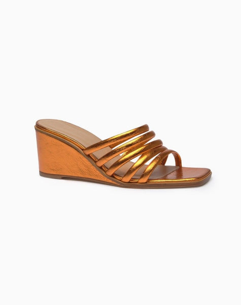 Paloma Wool Magdalene Wedge in Metallic Orange