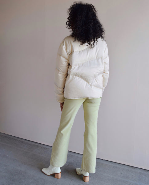 Paloma Wool Unisex Reversible Mitsubishi Jacket in Cream and Lime