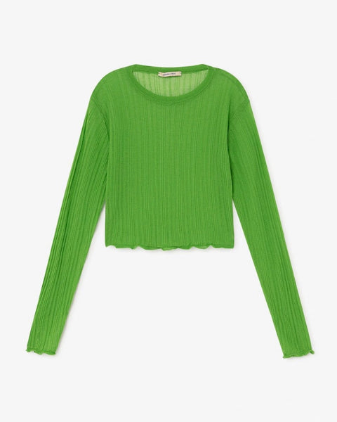 Paloma Wool Neng Ribbed Crop Top in Green