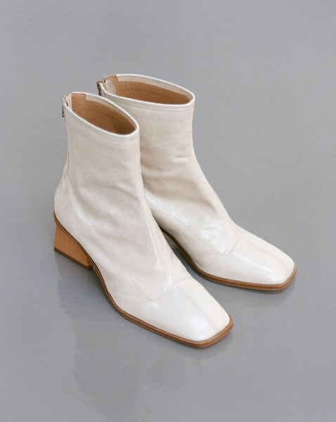 Paloma Wool Saturno Ankle Boot in Off-White Leather