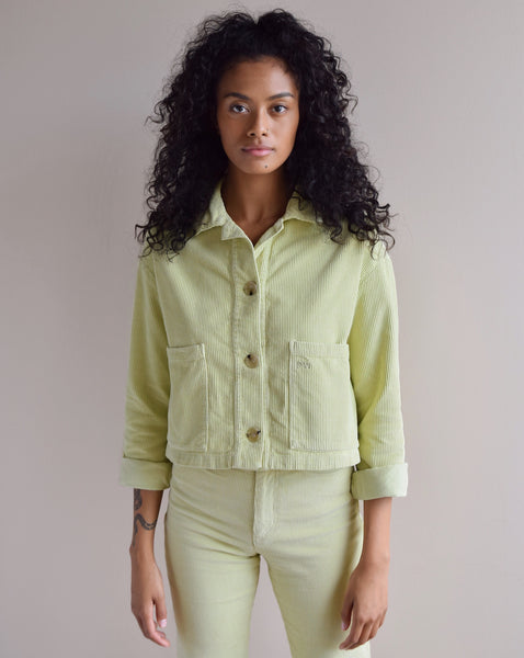 Paloma Wool Corduroy Spa Jacket in Citron