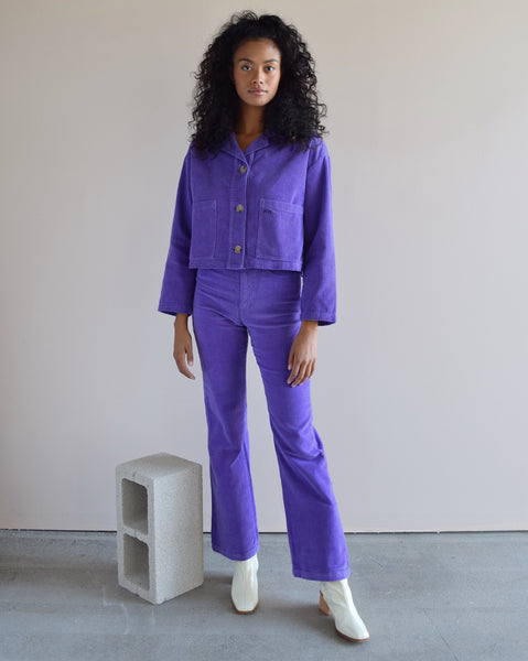 Paloma Wool Corduroy Spa Jacket in Purple