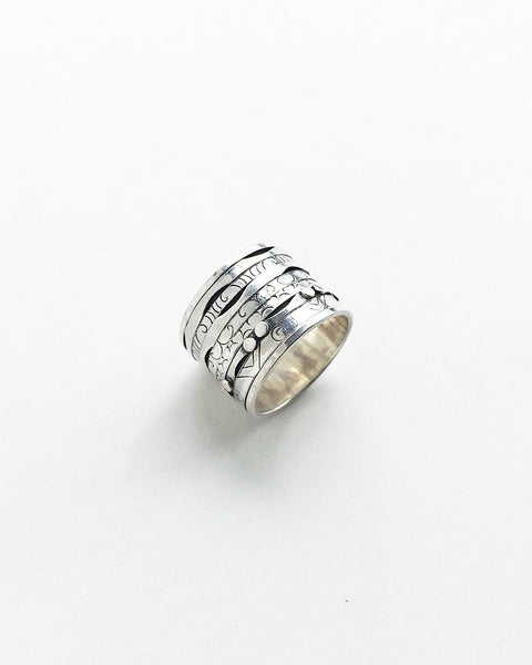Nepal Silver Spinning Meditation Ring