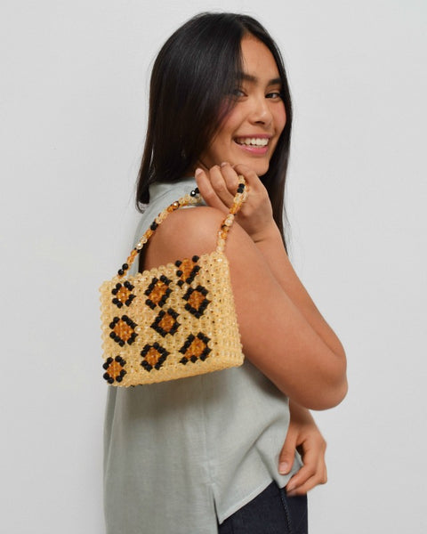 Susan Alexandra Lil Leopard Beaded Bag