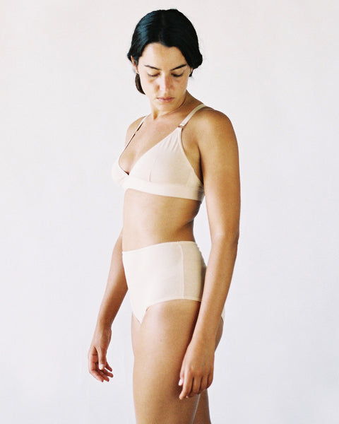 The Nude Label Triangle Bra High Waisted Briefs