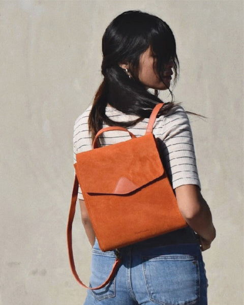 Mini Macta Backpack in Burn Suede