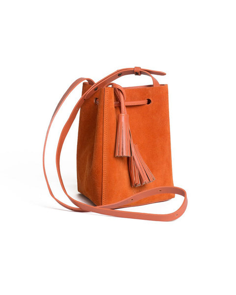 Mini Tris Bag in Burn Suede