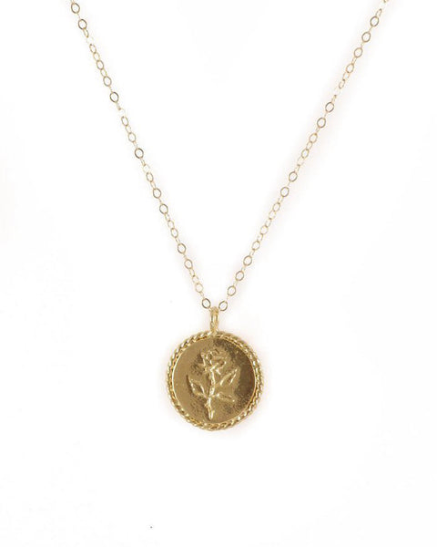 Wolf Circus FUGGIAMO Rose Coin Necklace