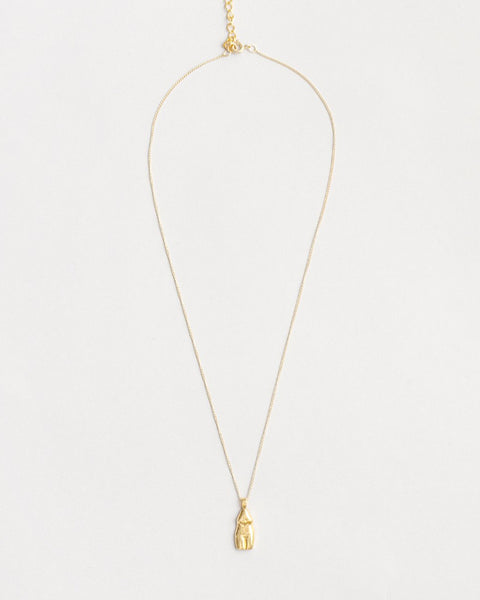 Woman Vase Necklace in Gold