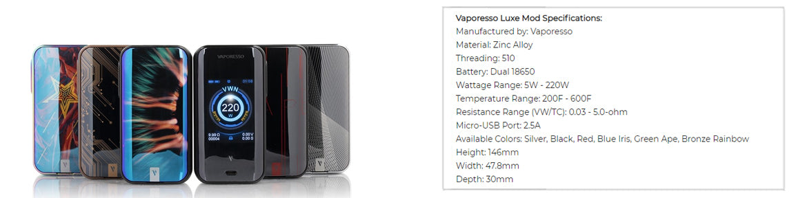 Best Box Mods of 2019: Vaporesso Luxe
