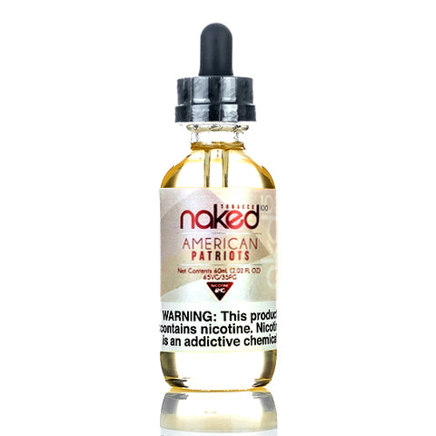 American Patriots - Naked 100 E-Juice (60 ml)