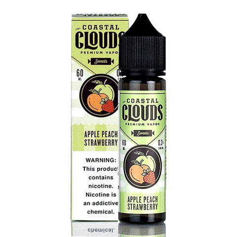 Apple Peach Strawberry - Coastal Clouds E-Juice (60 ml)