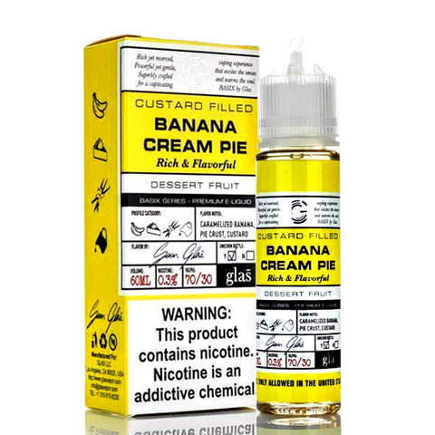 Banana Cream Pie - Glas Basix E-Juice (60 ml)