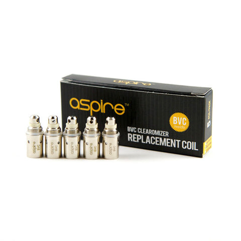 Genuine Aspire™ BVC Replacement Coils / Atomizer Heads (5 pack)