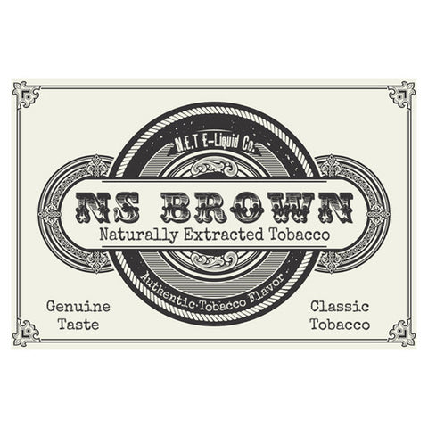 NS Brown - N.E.T Naturally Extracted Tobacco E-Juice