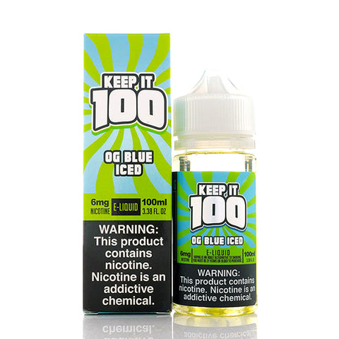 OG Blue Iced Keep It 100 E-Juice