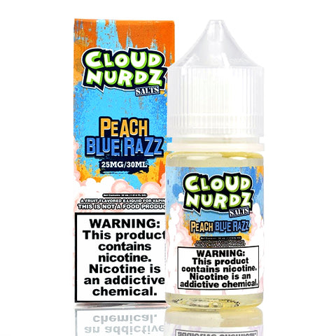 Peach Blue Razz - Cloud Nurdz Salts E-Juice [Nic Salt Version]