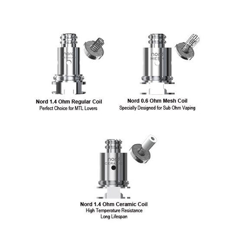 Genuine Smok™ Nord Replacement Coils (5 Pack)