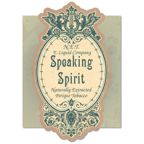 Speaking Spirit - N.E.T Naturally Extracted Tobacco E-Juice