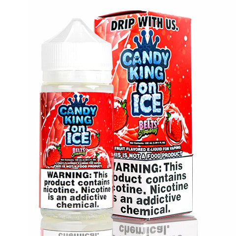 Strawberry Belts on Ice - Candy King E-Juice (100 ml)