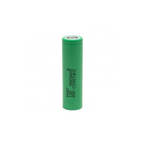 Samsung™ 25R 18650 INR 2500mAh 20A Flat Top Battery