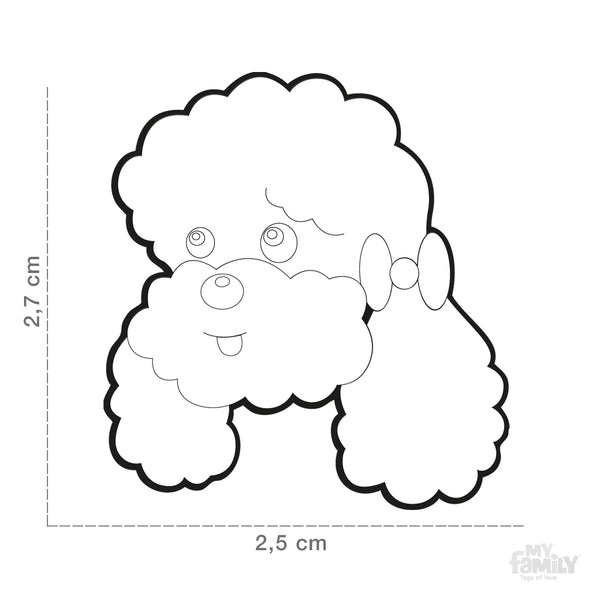Pet ID Tag | Poodle + FREE Engraving