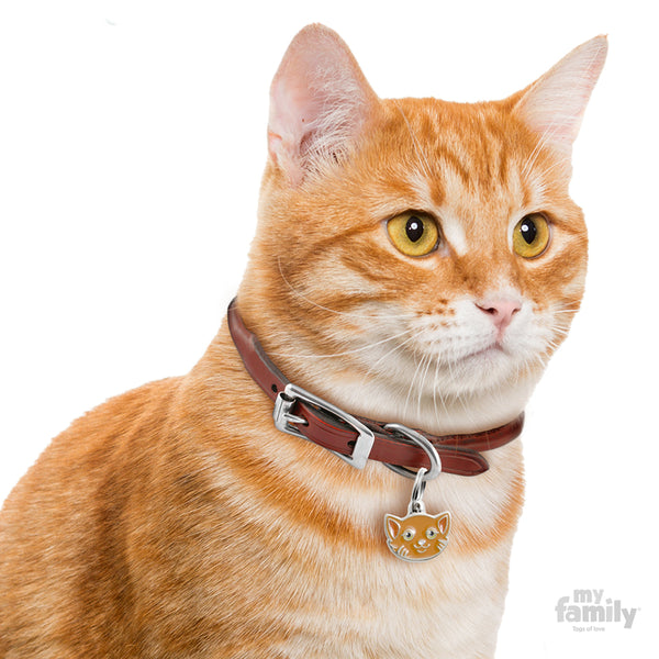 My Family Pet ID Tag | Red European Shorthair Cat + FREE Engraving | Peticular