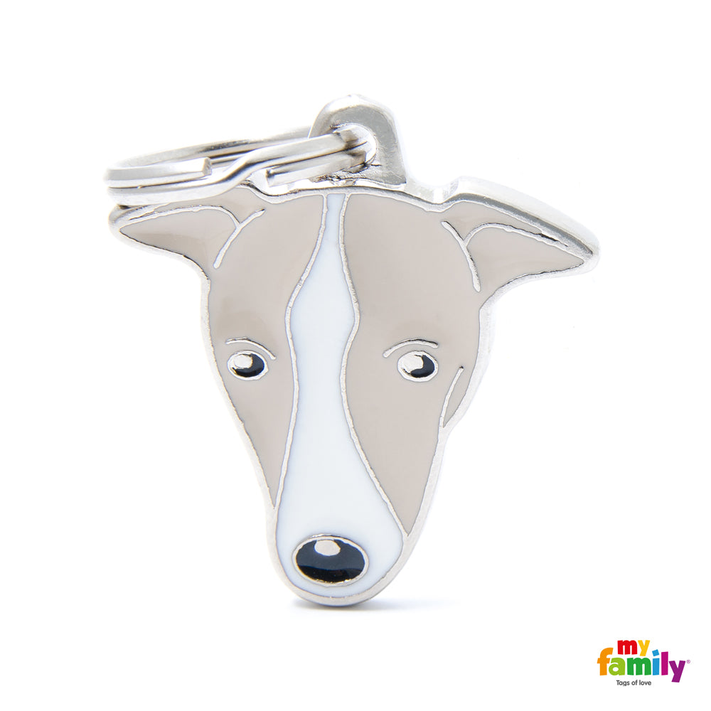 Pet ID Tag | Greyhound + FREE Engraving