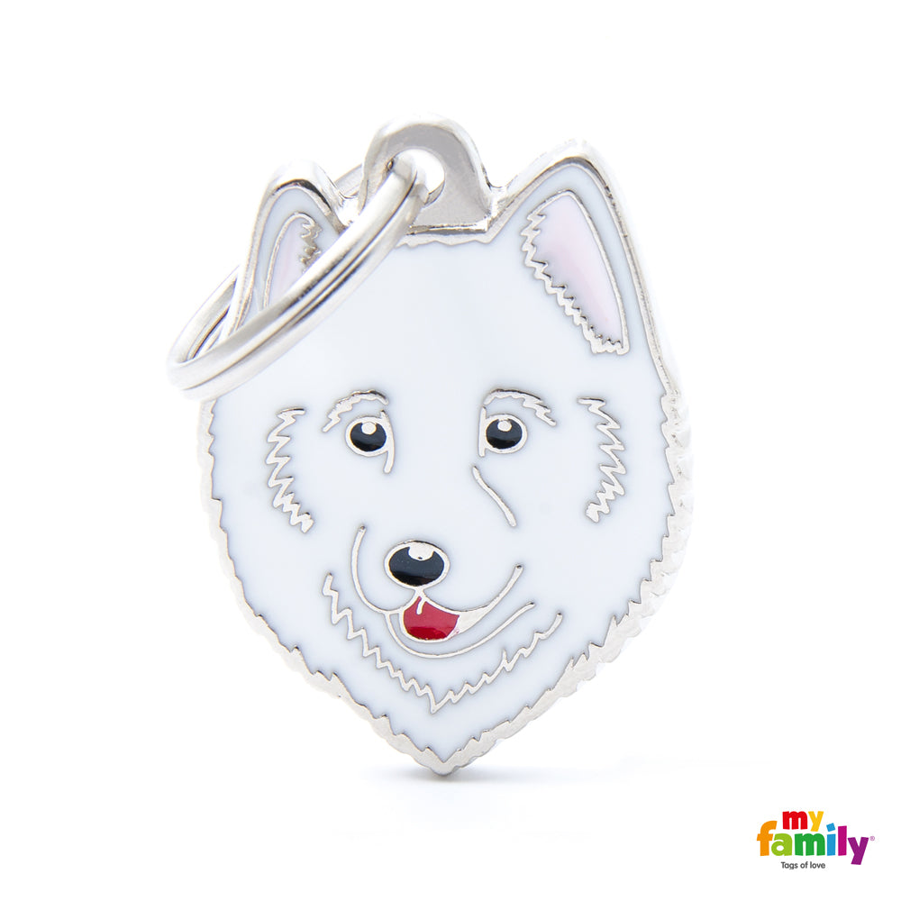 My Family Pet ID Tag | Samoyed + FREE Engraving | Peticular