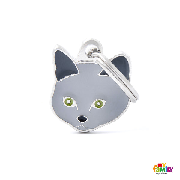 Pet ID Tag | Chartreux Cat + FREE Engraving