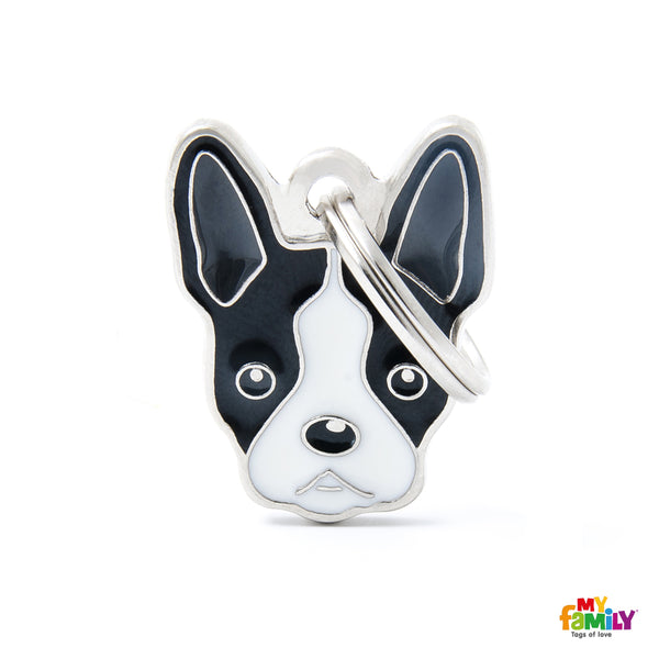 Pet ID Tag | Boston Terrier + FREE Engraving