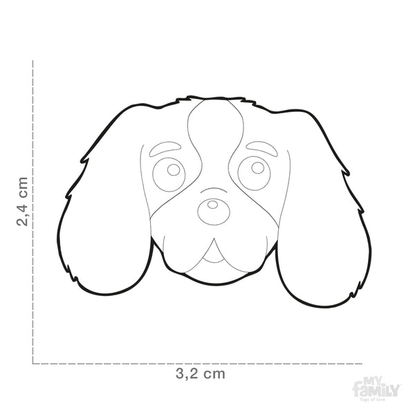Pet ID Tag | Cavalier + FREE Engraving