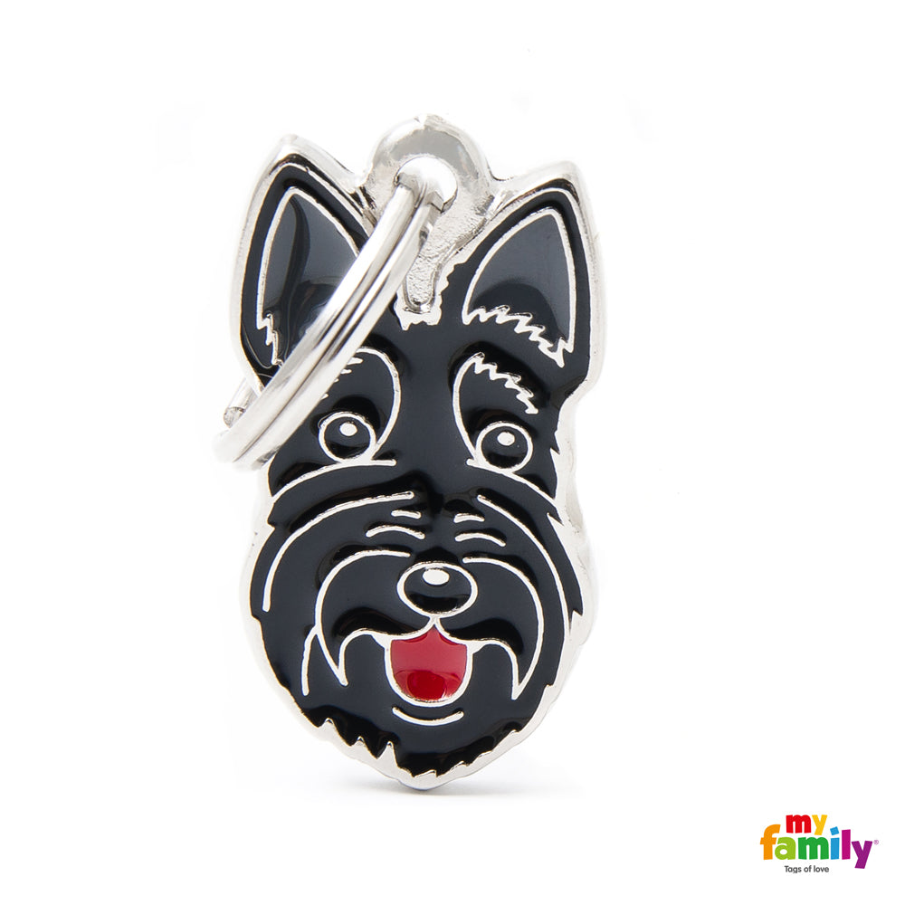 My Family Pet ID Tag | Scottish Terrier + FREE Engraving | Peticular